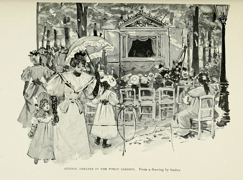 024-Teatro de marionetas en los jardines publicos-Paris from the earliest period to the present day 1902