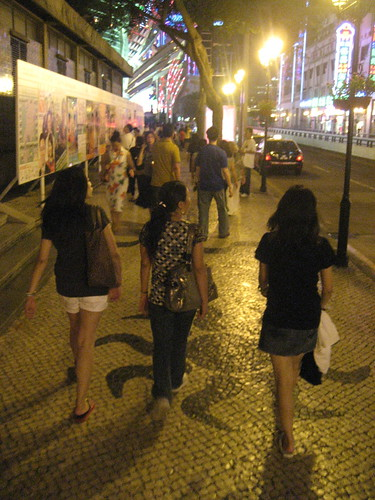 The Street of Macau at Night