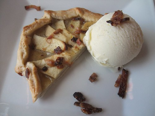 Bacon Apple Tart with Buttermilk Ice Cream from Black Creek Bistro