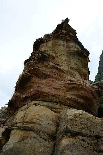 奇岩。竹筍的角度
