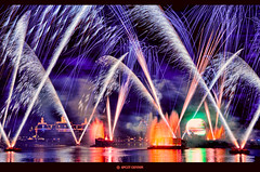 Reflections Of Earth (Jeff_B.) Tags: music night orlando epcot florida fireworks illuminations disney entertainment disneyworld wdw waltdisneyworld epcotcenter waltdisney reflectionsofearth lightstreams sylvania worldshowcase futureworld laserphonic generalelectic dondorsey gavingreenaway