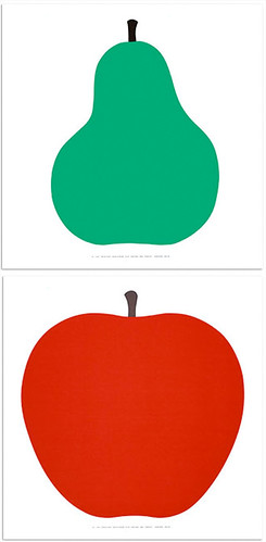 Enzo Mari- Pear and Apple poster