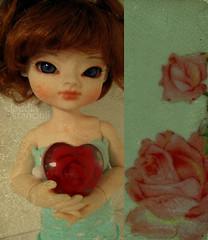 Rose heart (:Claudia:S:) Tags: rose doll heart rosa coração bjd boneca balljointeddoll ddw 29cm domadoll playingwithbrushes okja dollydiptychweekly