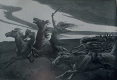 The Dises by Dorothy Hardy (Thorskegga) Tags: horse illustration book victorian riding ancestors viking rider mythology goddesses myth scandinavian pagan norse heathen asatru disir heathenry dises