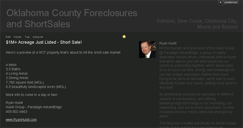 New Foreclosure and Shortsale Blog