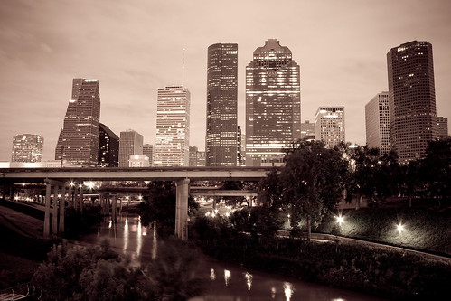 Houston Downtown Early Morning
