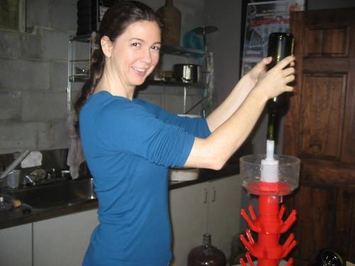 Sterilizing the bottles