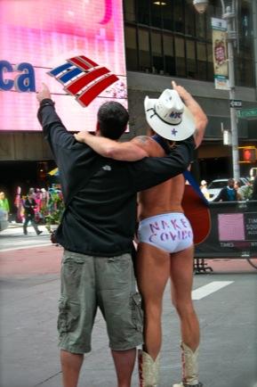 Brian and Naked Cowboy 2