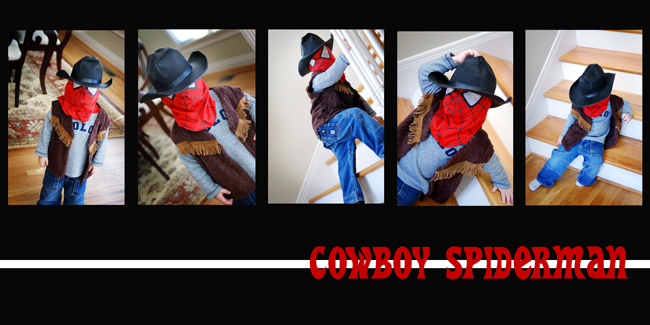 cowboy spiderman re