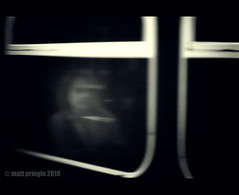 Ghost Train (Matt Pringle (aka Major P)) Tags: window lensbaby train ghost panasonic duotone passenger passing spectre composer gh1 mattpringle