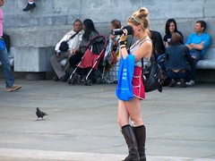Watching You Watching Others (Waterford_Man) Tags: camera girls people london photographer candid trafalgarsquare