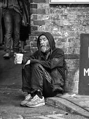 """The Art of Our Necessities..."" (Feldore) Tags: poverty street england man london king homeless poor shakespeare despair mchugh begging beg lear feldore"