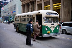 60 Years Late (cookedphotos) Tags: nyc newyorkcity toronto bus film vintage movie shoot fuji streetphotography police actor production period fare 23mm xt1