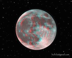 Full Moon - 3d anaglyph (bufivla) Tags: world sky italy moon nature night 3d europe italia serbia cyan anaglyph fullmoon stereo nite vicenza vladimir srbija jovanovic veneto anaglifo anaglif bufivla