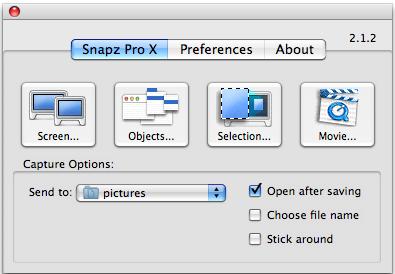 SnapZ Pro panel