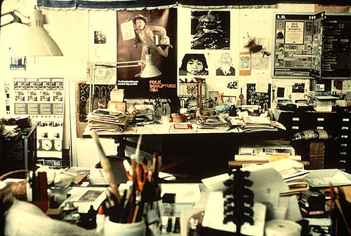 Ray Eames' desk and workspace