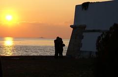 Hold me darling, hold me close... (Karyatis) Tags: ocean sunset sea sky tower portugal river twilight lisboa lisbon belem tejo tagus karyatis ilustrarportugal
