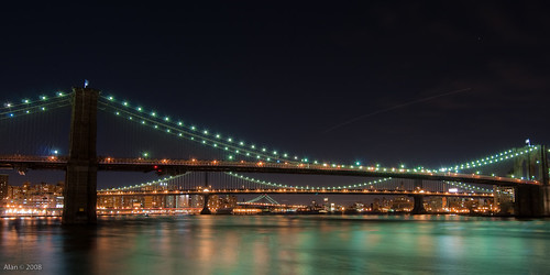 Brooklyn Bridge, Manhattan Bridge, and Williamsburg Bridge