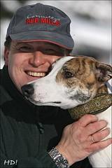 Peter Mazura mit Magyar Agar Windhund
