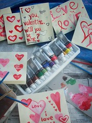 Feb 3- painting valentines