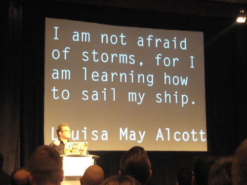 I am not afraid...