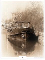 Anchored (Gert van Duinen) Tags: old haven harbor boat ship digitalart nostalgia 2009 anchored dutchartist cresk gertvanduinen