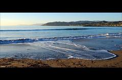 Seashore (...-Wink-...) Tags: ocean california blue sky beach nature water landscape coast harbor sand waves scenic bluesky explore shore vista thegimp fp ventura scapes venturaharbor nikond80 sigma18200hsmos