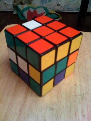 Solving a cube top-bottom-middle 4/7