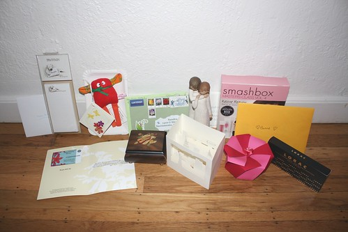 Birthday gifts and cards
