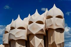 Gaudi's Army (Souvik_Prometure) Tags: barcelona spain catalunya catalan casamila lapedrera antonigaudi flickrsbest gaudisarmy souvikbhattacharya