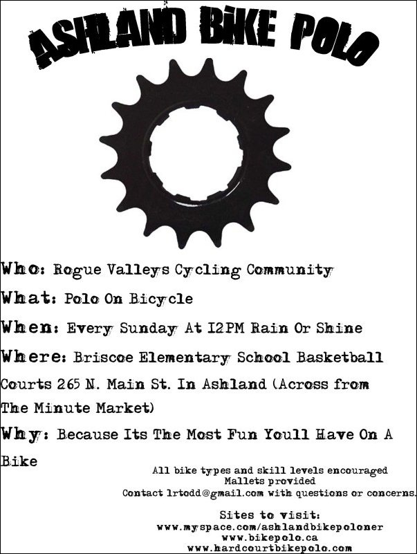 Ashland Bike Polo Flyer