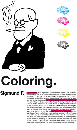 Coloring Project / Sigmund Freud por hulk4598.