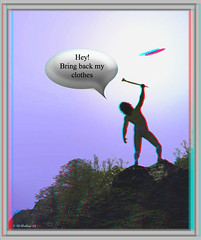 Bring back my clothes! (Conversion) (starg82343) Tags: photoshop funny conversion brian text alien balloon anaglyph ps ufo fantasy angry bubble wallace speech spm 2d3d