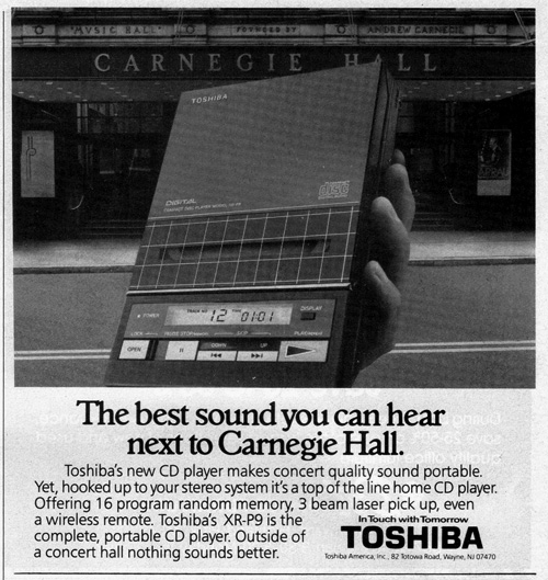 Vintage Ad #760: Listening to a CD Next to Carnegie Hall