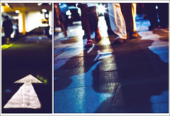 The first step towards getting somewhere is to decide that you are not going to stay where you are. (greentealover79) Tags: street canon diptych shadows orchard flare photowalk change fridaynight lowangle firststep eos50d anotherattempt mopnezles csexperiment playingwithgeotagging