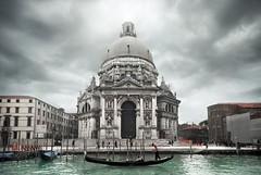 Santa Maria della Salute (gms) Tags: venice italy building church beautiful architecture canal italia salute dome huge gondola venezia hdr grandcanal santamariadellasalute octagonal