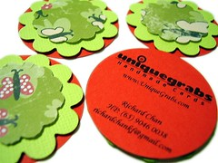 นามบัตร 40 Custom Flower Business Cards by UniqueGrabs