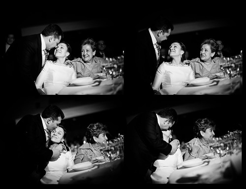fot�grafo de boda madrid - three shot - groom, bride, bride's mother quadtych - from a wedding in madrid november 2008