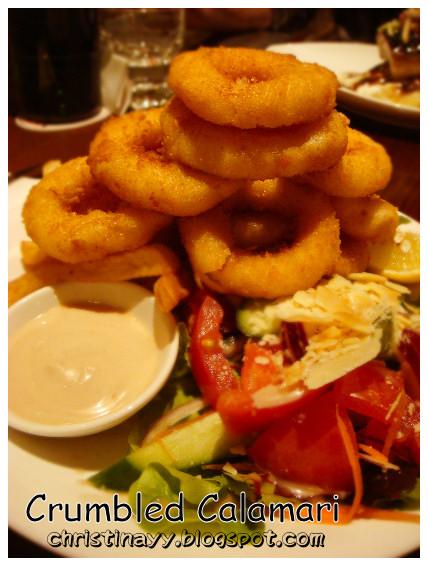 Fire + Ice Restaurant: Crumbled Calamari