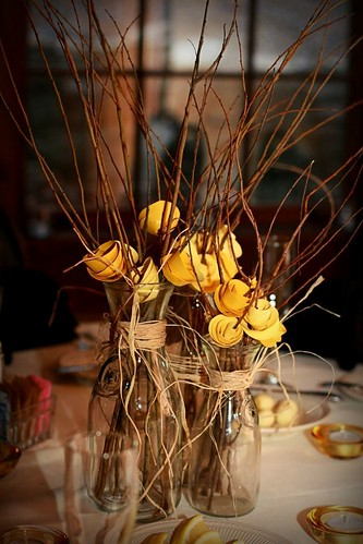 creative homemade wedding centerpieces