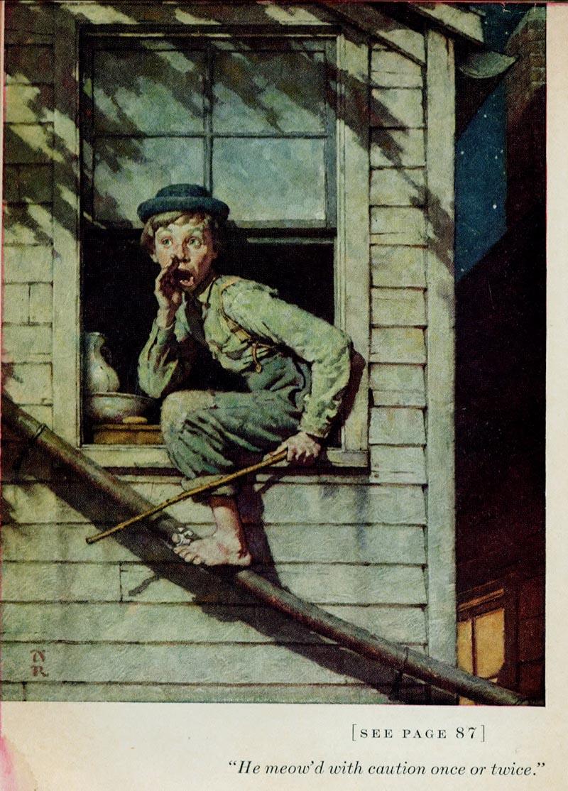 Norman Rockwell Tom Sawyer