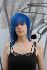 blue hair girl (wip-hairport) Tags: blue color portugal hairdye girl hair lisbon wip salon coloredhair hairport