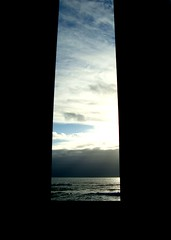 Open... (Gabrielle Z) Tags: blue sea sky beach portugal clouds beachbar viladoconde artcafe theturntable bestminimalshot absolutelyperrrfect gabriellez