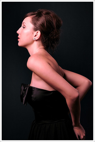 Dark Background Studio Look-Book Fashion Photography, Mid Shot