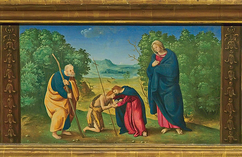 Tempera and oil on panel, predella of Saint John, by Piero di Cosimo, ca. 1481-1485, at the Saint Louis Art Museum, in Saint Louis, Missouri, USA