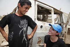 Angelina Jolie pays third visit to Iraq, appeals for aid for the displaced (UNHCR) Tags: boy camp youth war refugees iraq families middleeast visit relief angelinajolie actress baghdad violence conflict unhcr reconstruction settlement displacement idps humanitarianaid goodwillambassador internallydisplaced emergencysituation unrefugeeagency chikook