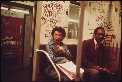Many Subway Cars in New York City Have Been Spray-Painted by Vandals. 05/1973