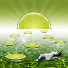 Lime Paradise (Rebecca Nathan) Tags: paradise floating lime rebeccanathan