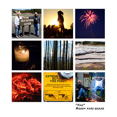 Fire by Kari Quaas (kquaas) Tags: water collage fire earth air photographs concept theelements 2009kariquaas