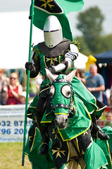 Green Knight Riding (Chris Turner Photography) Tags: show horse costume flag helmet medieval surrey historic riding knights knight armour horseback jousting reenactor agricultural damned chertsey